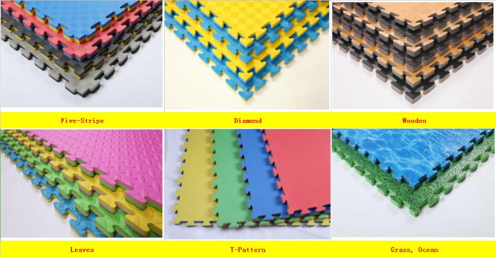 Foam Mats Jumbo Martial Arts Puzzle Tiles Large Black