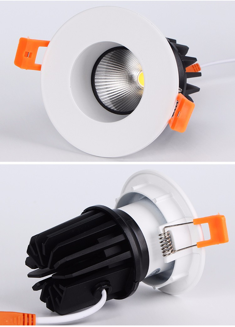 Adjustable shopping mall 10w aluminium spot down light recessed cob led downlight