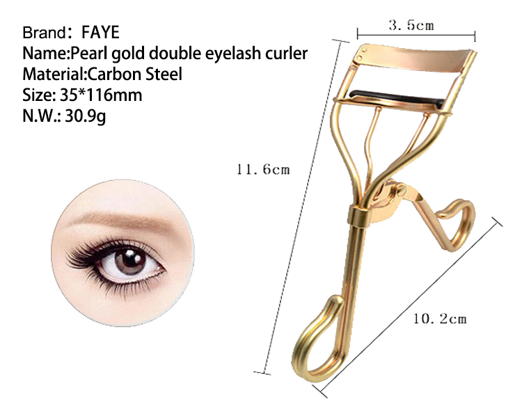 Professionelle neue Design Deluxe Pearl Gold Kosmetik Beauty Tools Wimpernzange