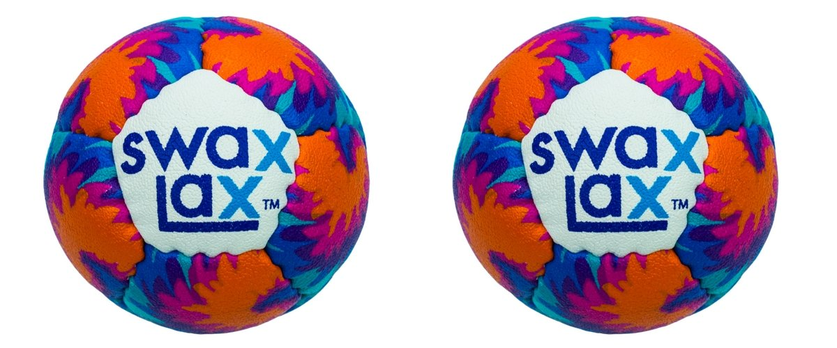 Swax Lax (2-Pack) Lacrosse Training Ball - Same Size and Weight as Regulation Lacrosse Ball but Soft - No Rebounds, Less Bounce (Maui)