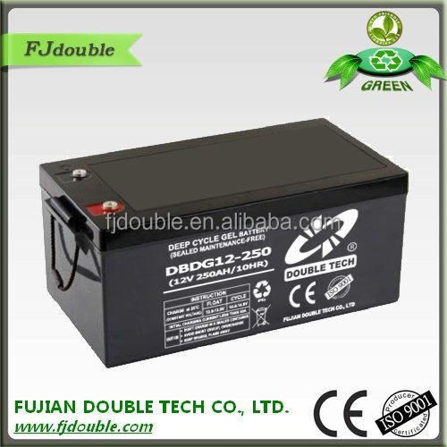 rechargeable china manufacturer solar 250ah batteries 24v 12ah 250w