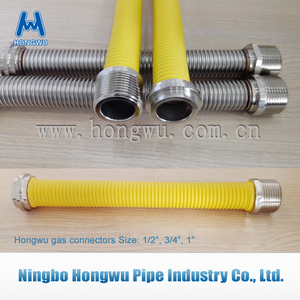 Yellow SS Corrugated flexible natural gas hose