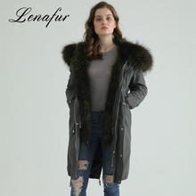 Reliable Quality Hooded Jacket Raccoon Fur Parka