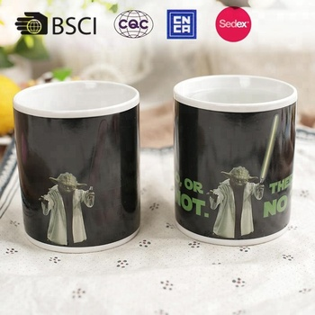 Hot sale personalized magic ceramic color-changing coffee mug with movie character