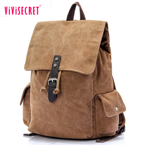 Wholesale custom mochila leisure used plain school knapsack back pack mens rucksack bagpack plain vintage canvas backpack