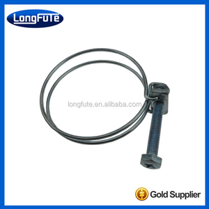Double wires house clamp/double wire hose clamps/hose clips