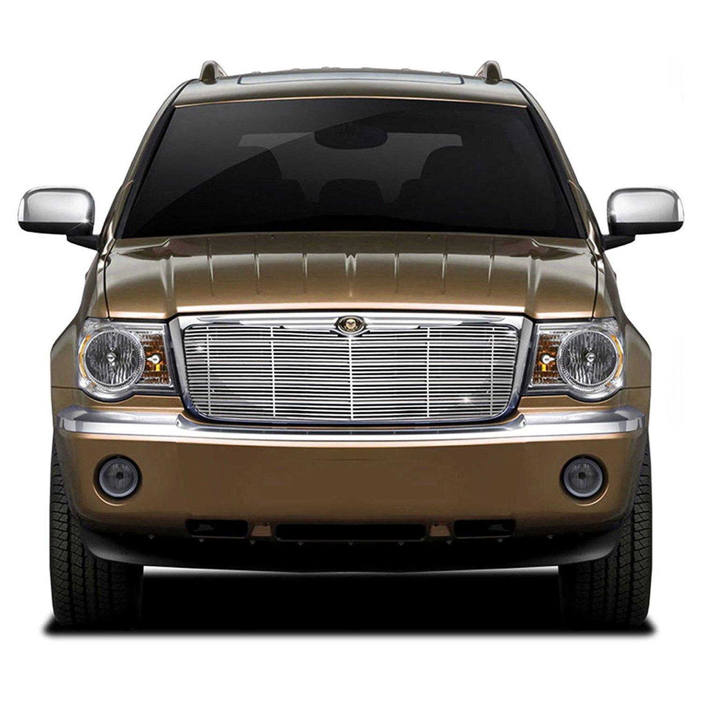 Premium FX 1pc Chrome Top Billet Grille Insert for 2007-2009 Chrysler Aspen