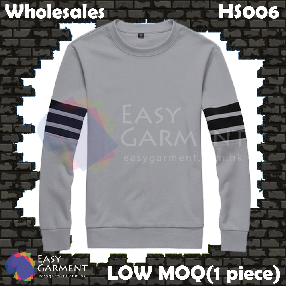 Wholesales Low MOQ HS006 300G Grey Gray Fleece Pullover Sweater Hoodies