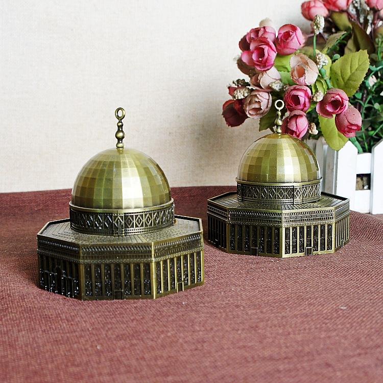 Retro famoso marco modelo arquitetônico jerusalém cúpula