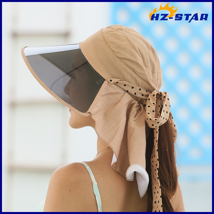 0452109dcd1 HZM-16144002 Spring and summer visor cap Korean PVC UV cotton along the sun  hat