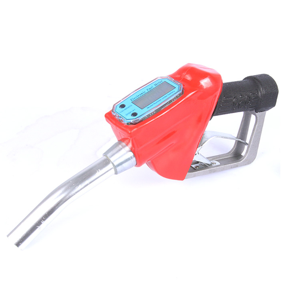 Hot sell fuel dispenser nozzle measure fuel nozzle with flow meter 1 inch