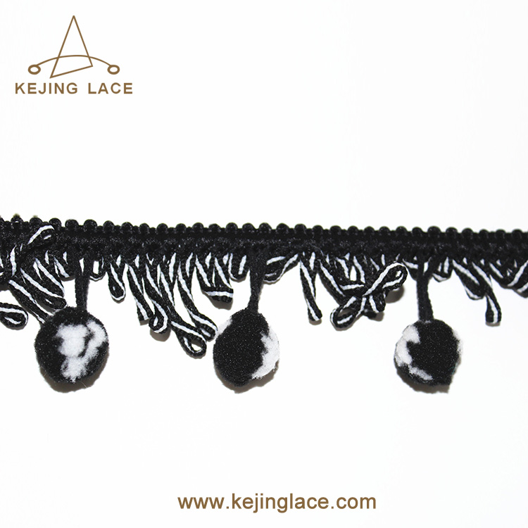 Hot Selling Factory Tassel Fringe With Braid Trim