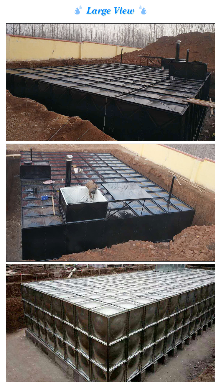 Bdf Hot Dipped Galvanized Underground Water Tank With Stainless