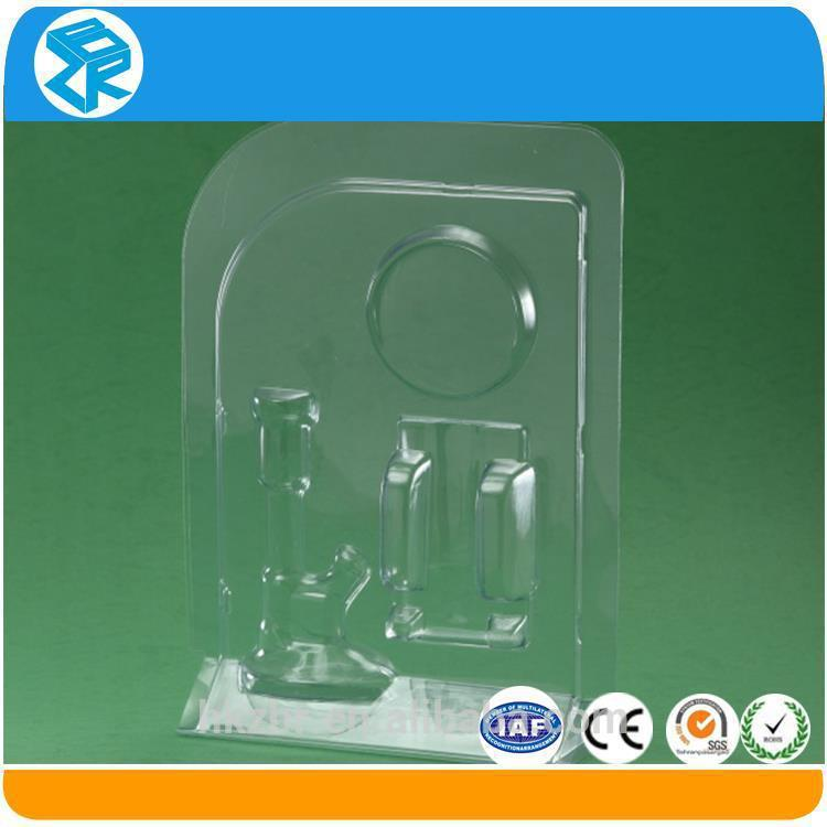 Professional slide card blister packing for small tools plastic packaging box