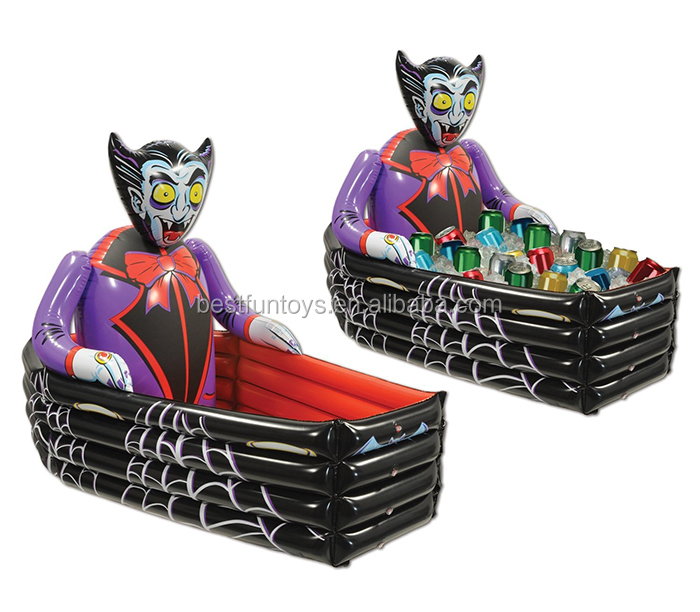 Vampire Coffin Inflatable Beer Can Cooler Plastic Ice Cooler Box ...