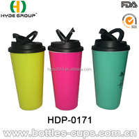 16oz double walled healthy plastic novelty coffee cup set