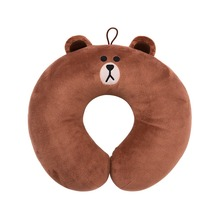LINE FRIENDS Brown Cony Plush Neck Pillow One Size Brown TraveL Neck Pillow