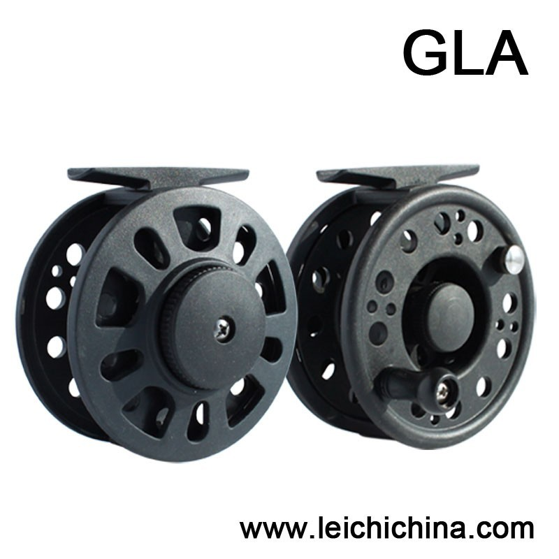In stock large abor cheap graphite plastic fly reel