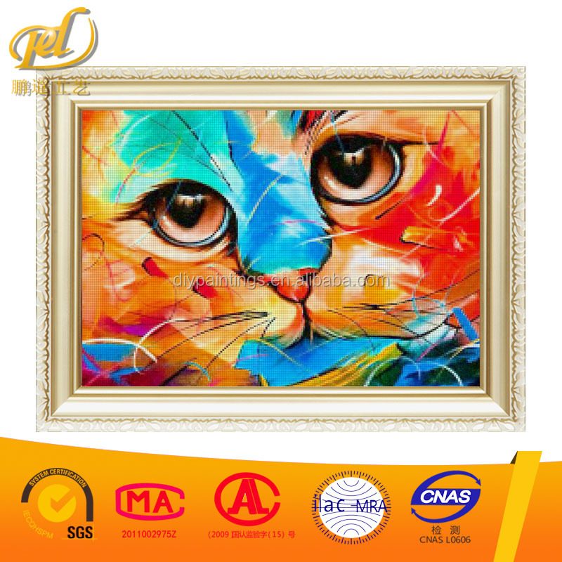DIY Diamond Painting Stickers Decorative Painting Rhinestone Mosaic 5D Cross Stitch Diamond Pattern Diamond Embroidery Cat