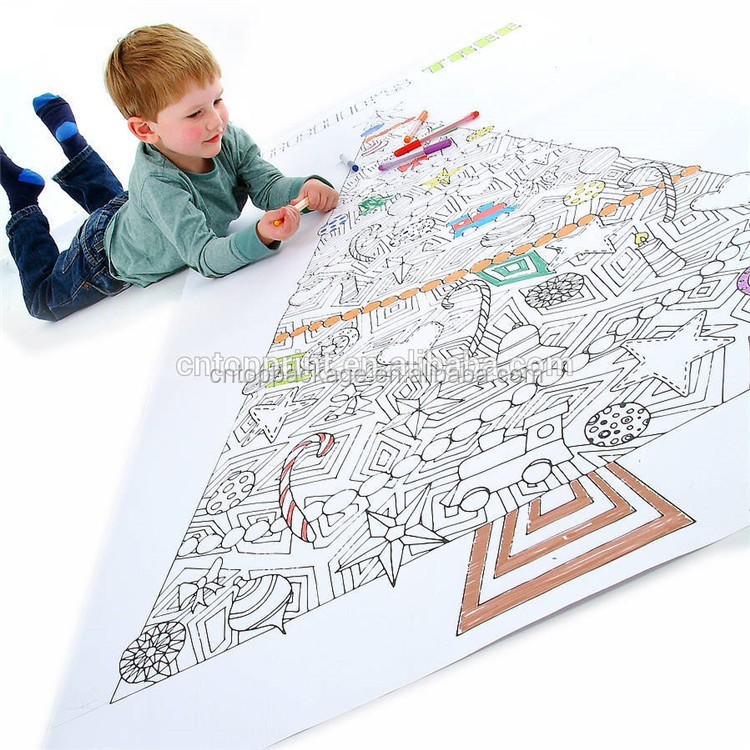 Wholesale Custom Giant Size Coloring Poster for Kids/Adults