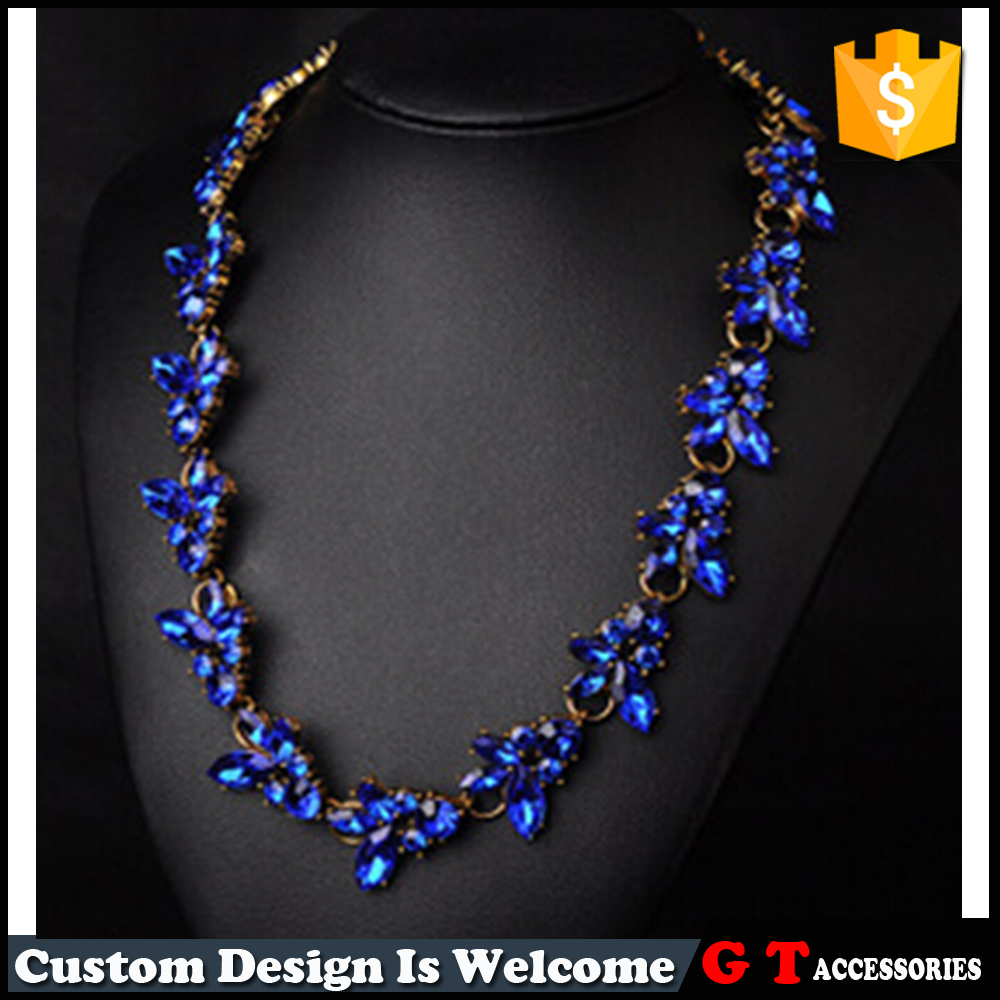 Hot New Products For 2016 Full Crystal Choker Necklace For Women, Latest Fashion Jewellery