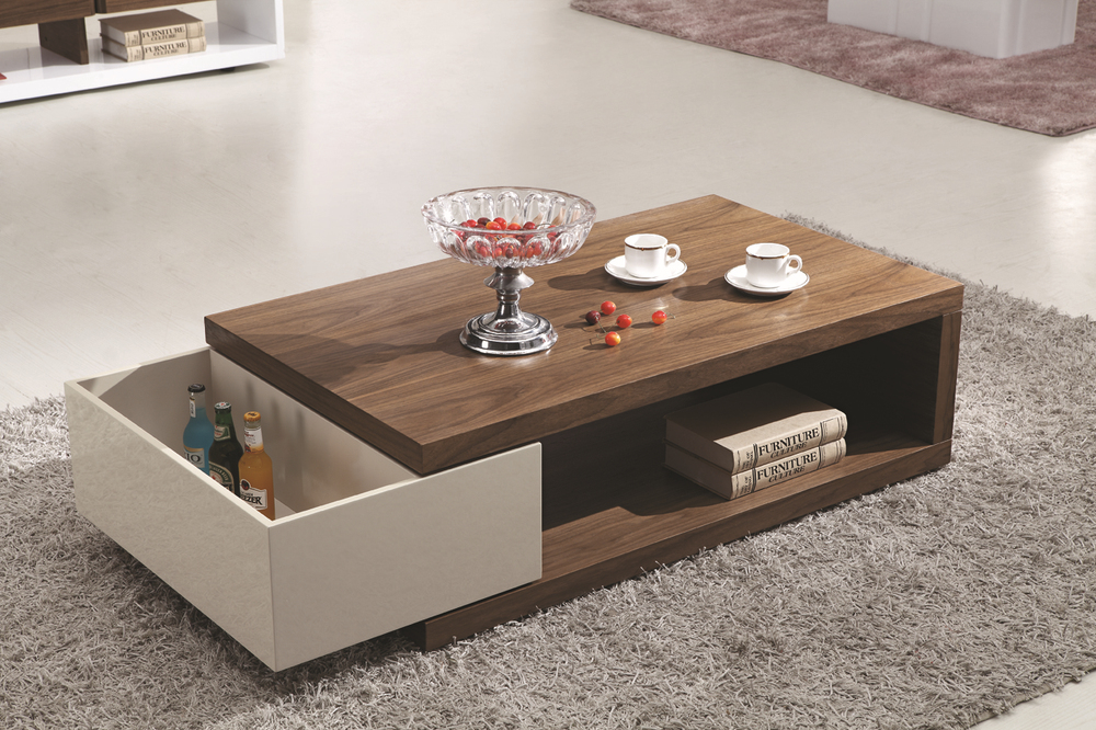 Living room furniture tea table design modern wood and for Sofa center table designs