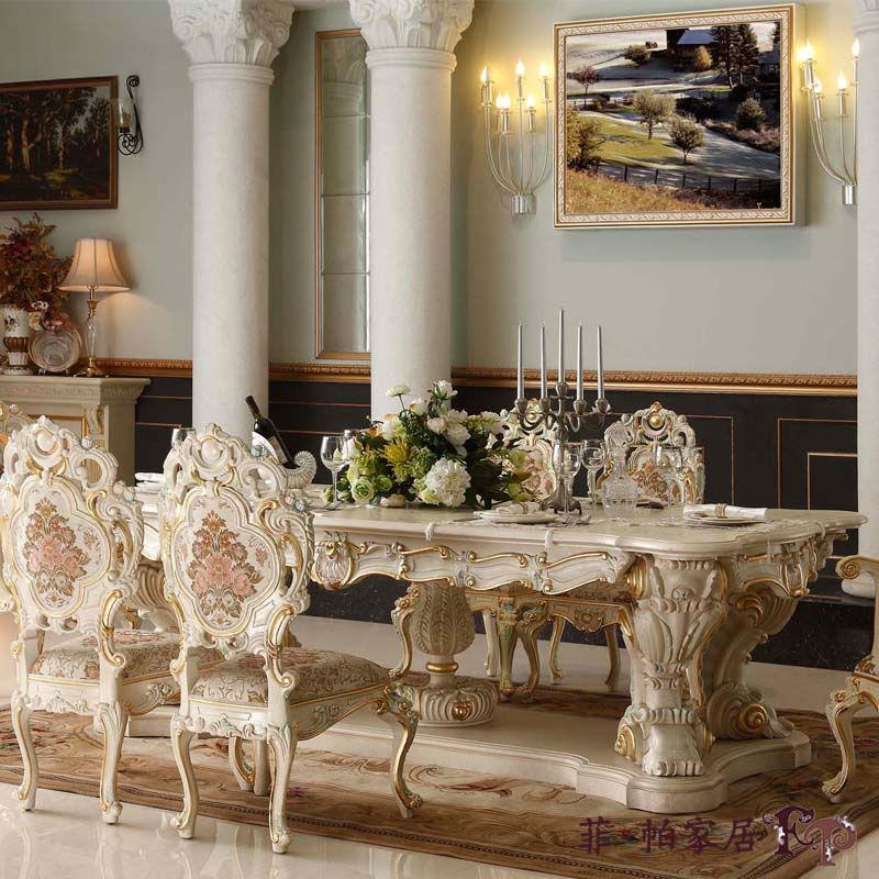 Final de madera ejecutivo de comedor muebles antiguos for Muebles italianos de lujo