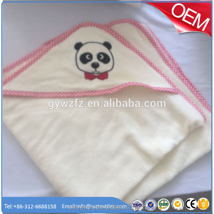 100% organic cotton best for babies softest panda baby hooded towels