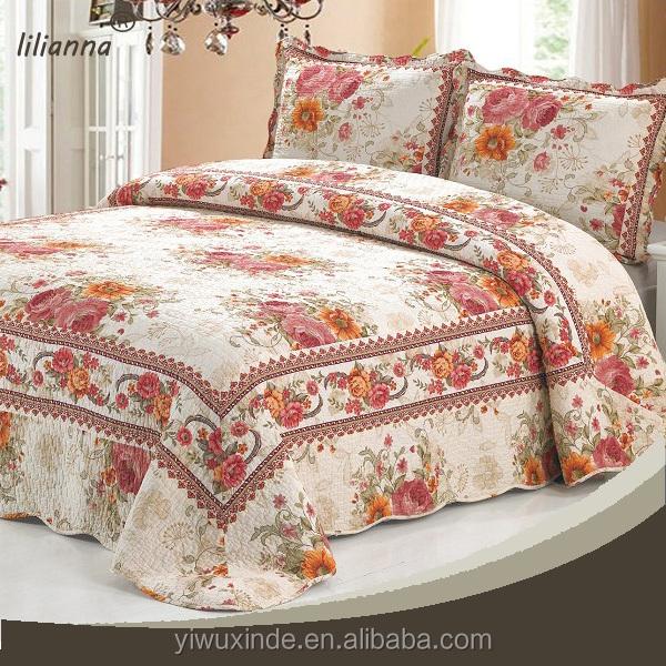 ensemble rideaux couvre lit 100% coton de luxe articles pour la maison couvre lit et rideau  ensemble rideaux couvre lit