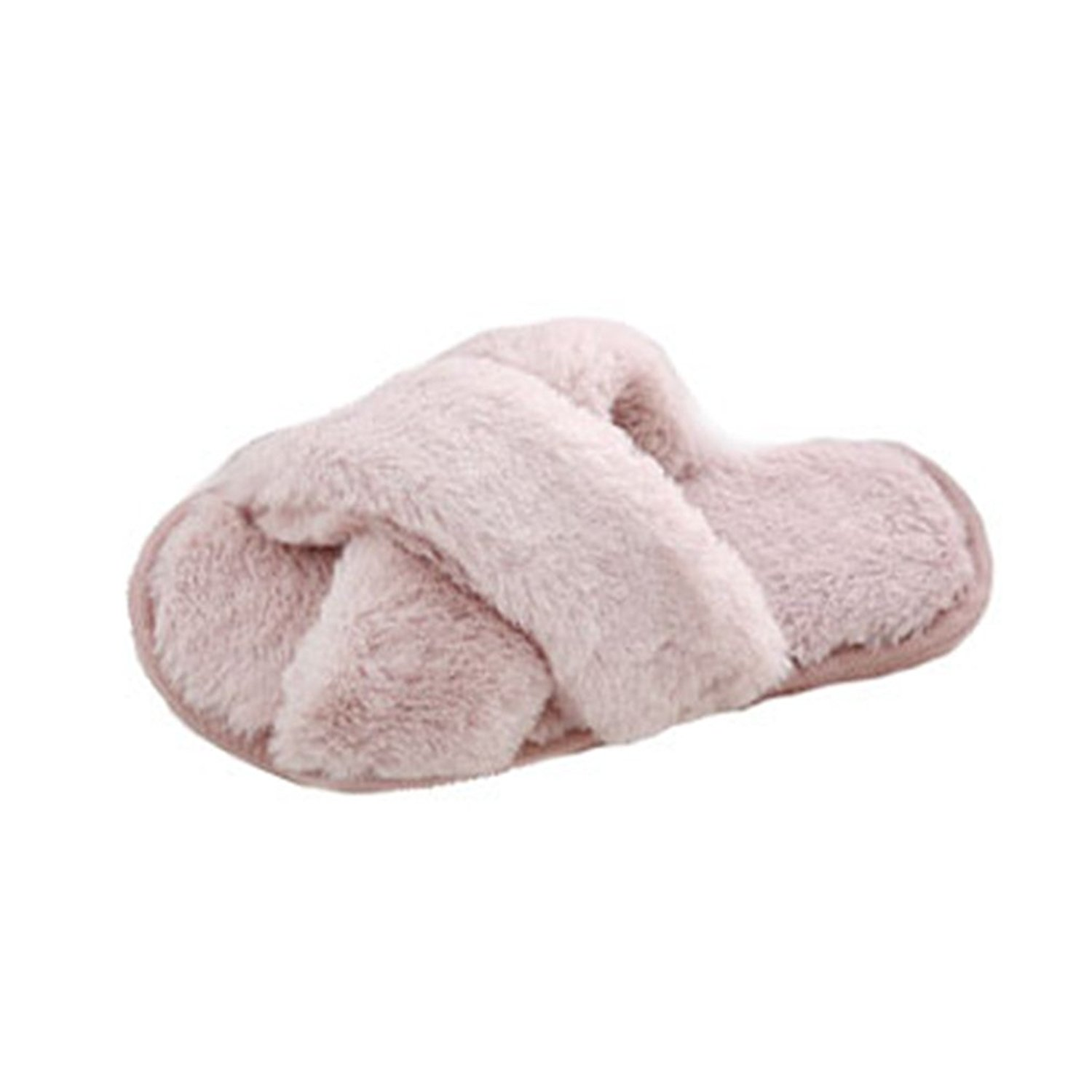 9125a79729b Get Quotations · GIY Women s Winter Warm Slippers Fur Indoor Slippers for Women  Fuzzy Cozy Plush Non-Slip