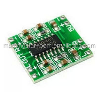 Made in China Mini Digital Amplifier Board Classe D 2 * 3W USB Power PAM8403 Modulo audio DC2.5V-5V Accetta su misura