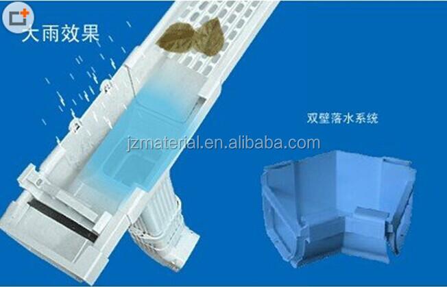 Aluminium Rain Gutter Foam Pvc Rain Gutter System