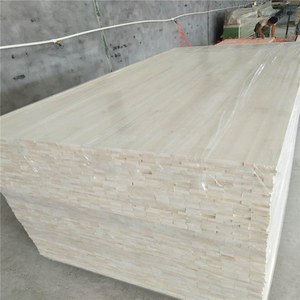 High quality of pine/poplar/paulownia finger joint board from China for furniture