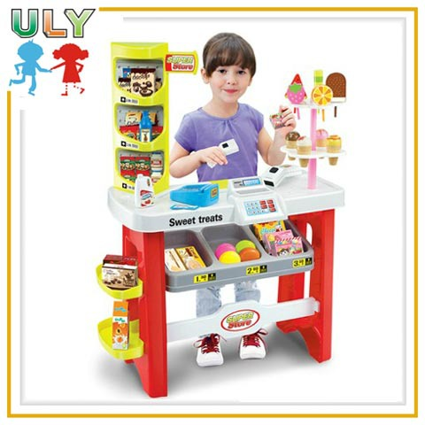 Kids kitchen play food sets with fast food combined toy for Kitchen set restoran