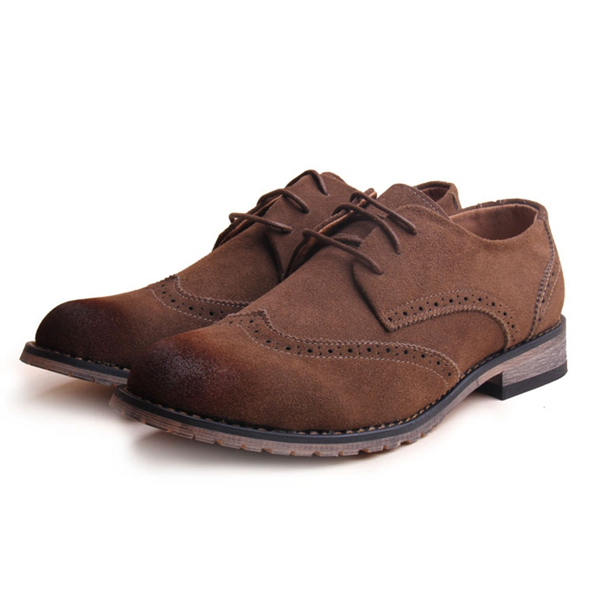 Mens Shoes Casual 2015 British Style Men Shoes Leather Suede Oxford Shoes Man Fashion Brand Spring/Autumn Shoes Plus Size