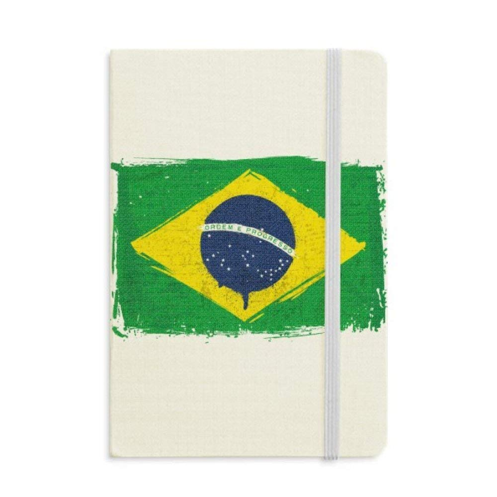 Hand-painted Brazil Flag Brazil Notebook Fabric Hard Cover Classic Journal Diary A5