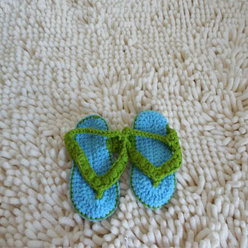 Cute Handmade Crochet Baby Sandals Boy Dress Shoes - Buy ...