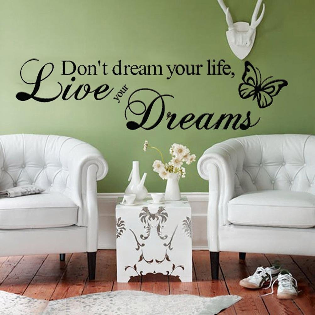 Oksale® Wall Stickers Papers Art Vinyl Quote Removable Bedroom Home Showcase Applique Mural Decor