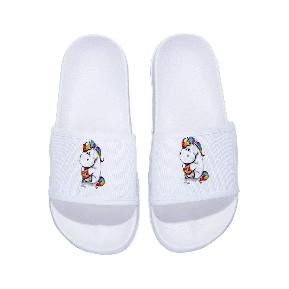 MingDe Sports Boys Girls Unicorn Anti-Slip Shower Sandals Couple Use Beach Pool Bathroom Gym Household Slippers