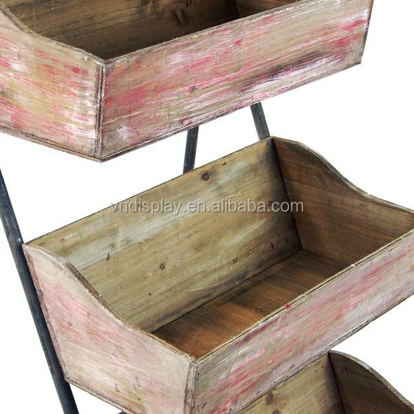 Weather Wood Rustic Wood Furniture Shelves Vintage Wooden Display  Barrow/Boxes