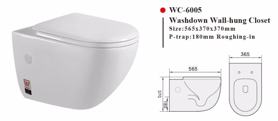 Back To Wall Toilet P S Trap Round Wc Pan For Concealed