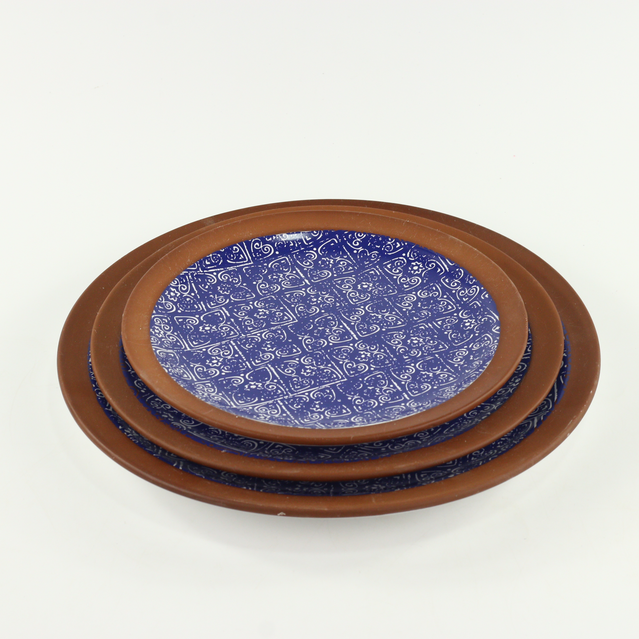 wholesale special pottery terracotta green ceramic dinner plates