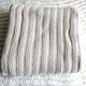 50CZ70 100%cotton chunky sweater stripe knit blanket throw