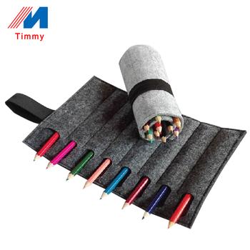 China Supplier High Quality Durable Wool Felt Fabric Roll Up Felt Pencil Case Buy Fabric Pen Pouchroll Up Felt Pencil Casepen Pouch Product On
