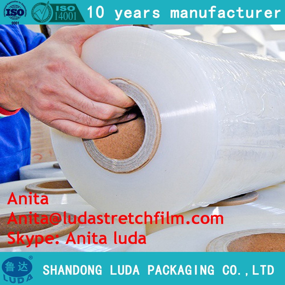 Hot sale stretch shrink colored paper core film