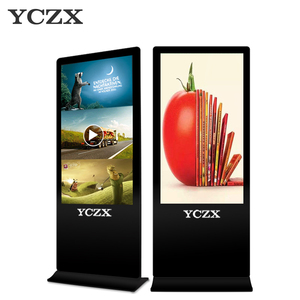 55 inch Capacitive touch Screen display digital outdoor advertising 1080p kiosk totem