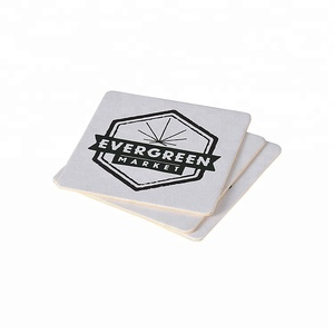 Pulp Board Custom Promotion Absorbent Paper Thermal Coaster / Cup Mat / Cup Pad