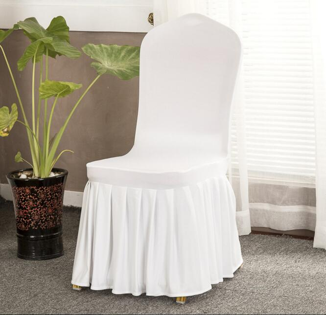White Spandex/Polyester Wedding Hotel Banquet Chair Cover Home Textile Restaurant Chair Cover