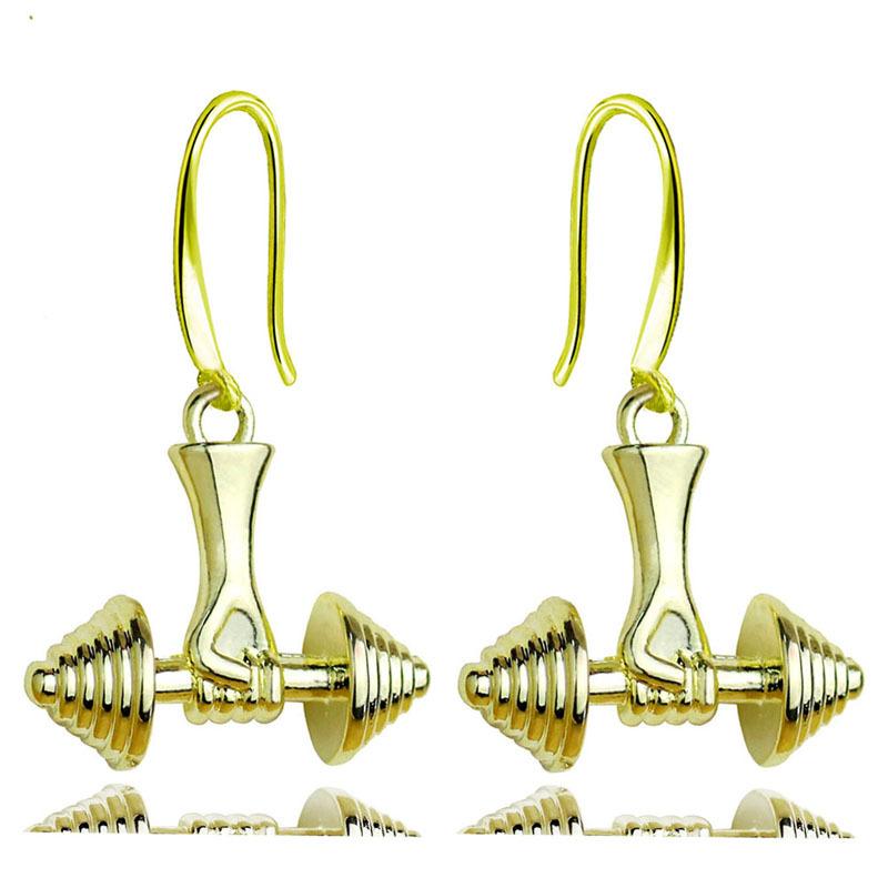 2pcs Funky Steel Gold Color Zipper Stud Earrings for Men Women Boys Screw Back Rock Punk Hipster