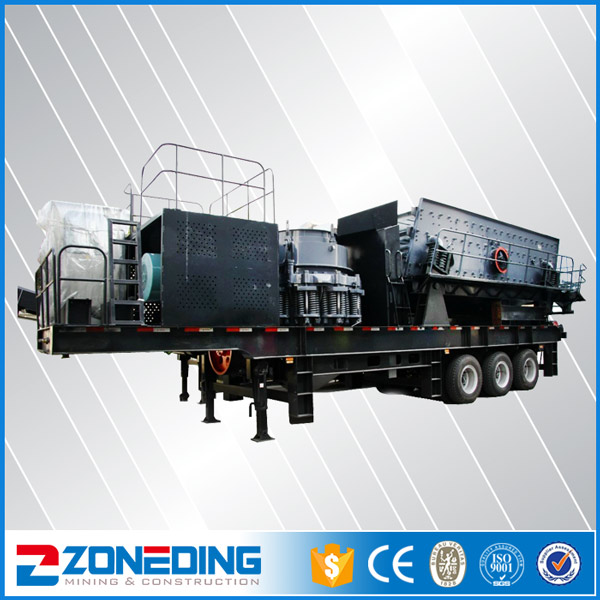 Stone Mobile Concrete Aggregate Quarry Crusher Plant
